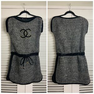 Chanel SM knitted Grey logo tunic